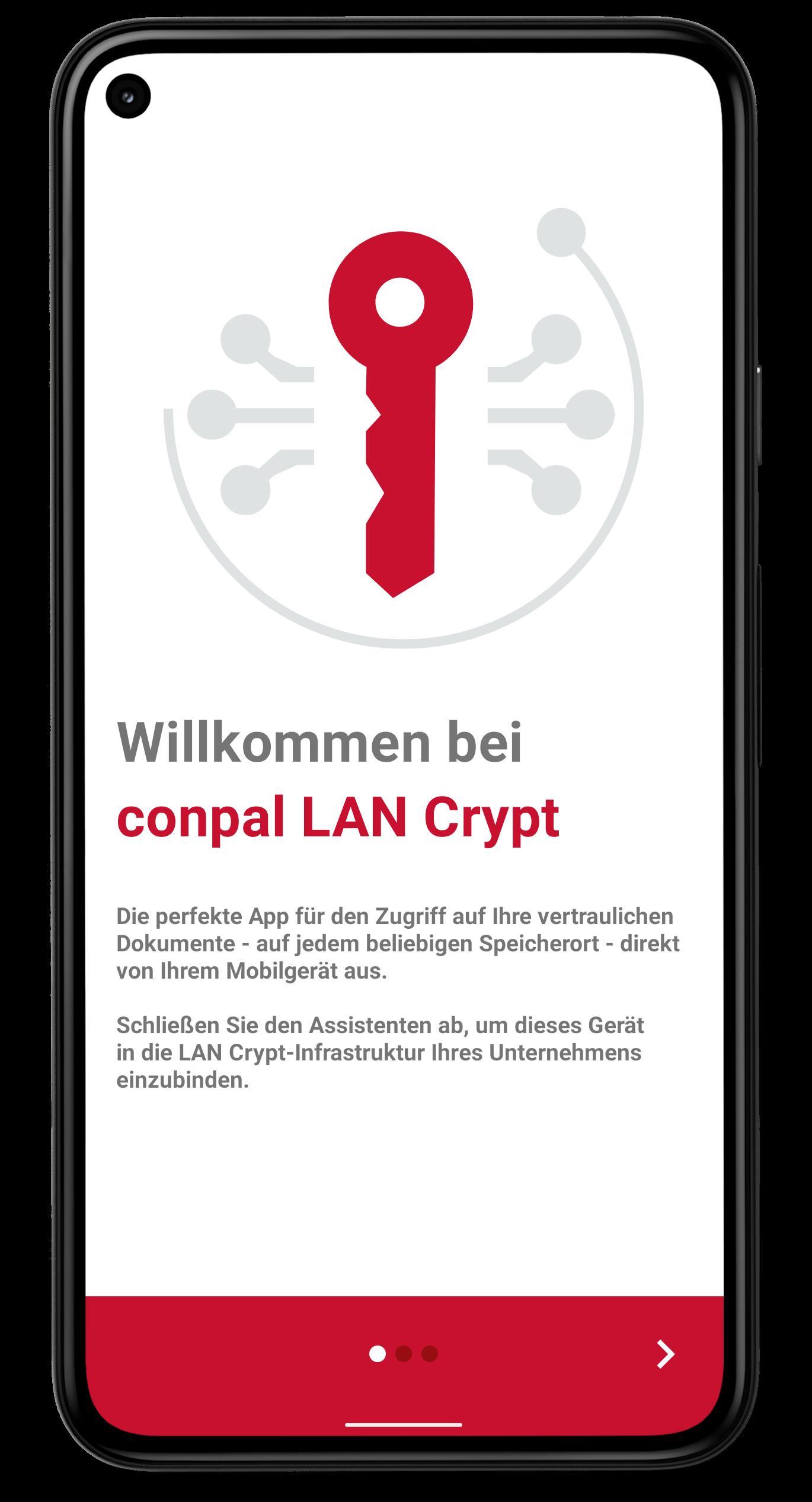 Screenshot conpal LAN Crypt für Android